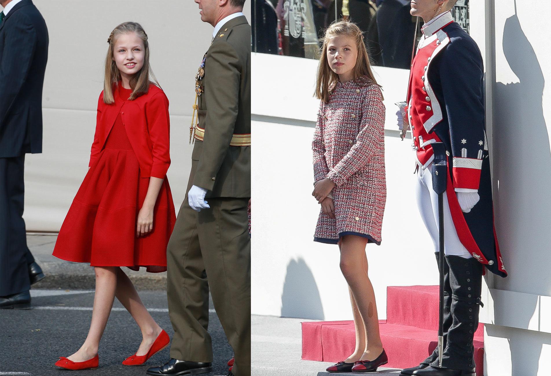 La Princesa de Asturias, Leonor de Borbón, y la infanta Sofía.