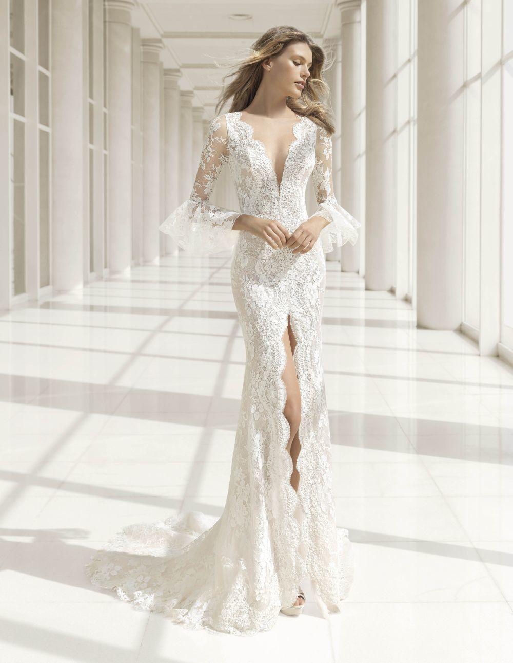 Los vestidos de manga larga son la opción perfecta para las novias de...