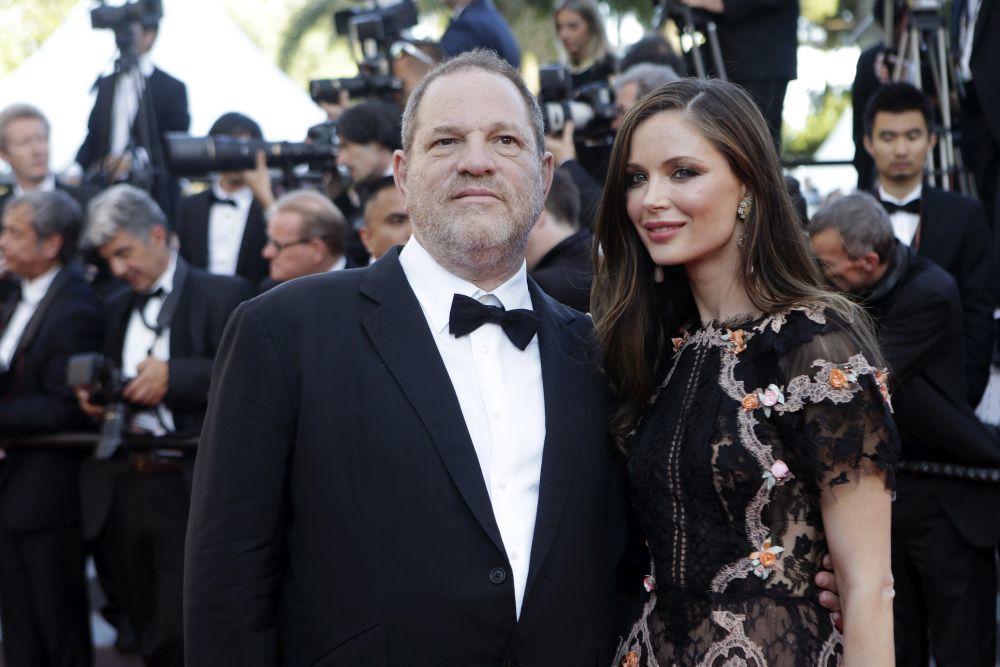 Harvey Weinstein y Georgina Chapman en el festival de Cannes en 2015.