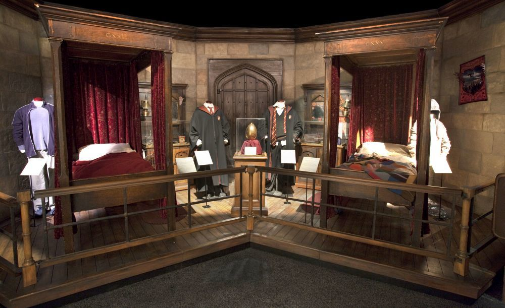 Dormitorio Gryffindor de la exposición <em>Harry Potter: The...