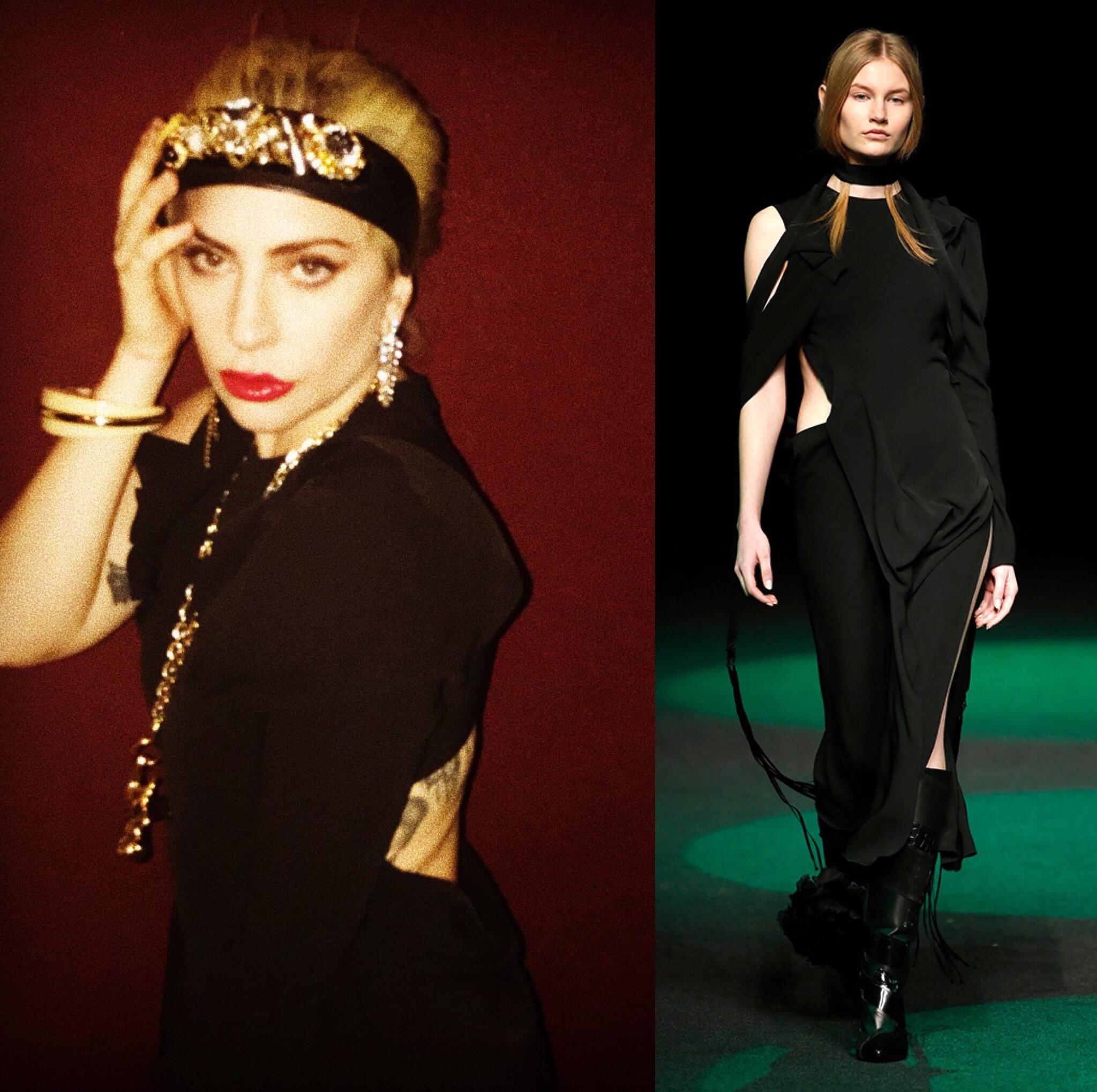 Así es el vestido de Juan Vidal que viste Lady Gaga
