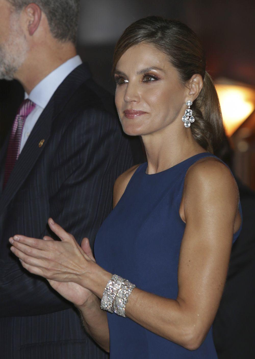 La reina Letizia durante el concierto inaugural de los Premios...