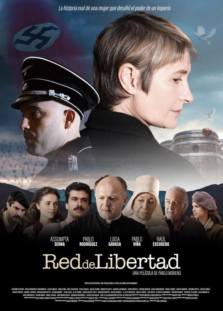 """Cartel de la película """"Red de Libertad"""", en la que Assumpta Serna..."""