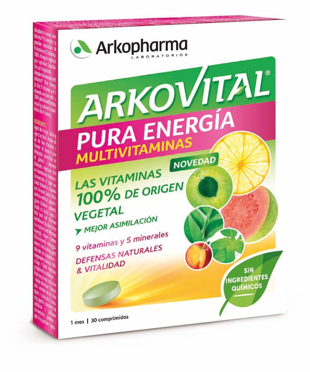 Arkovital Pura Energía, de Arkopharma (12,90 euros) con 9 vitaminas y...