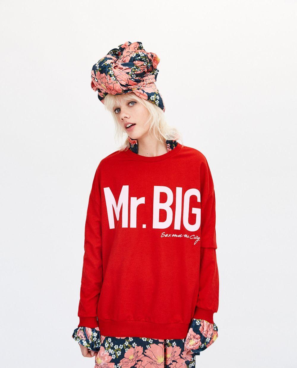 Sudadera roja con las letras 'Mr Big' en tamaño xxl (22.95 euros)