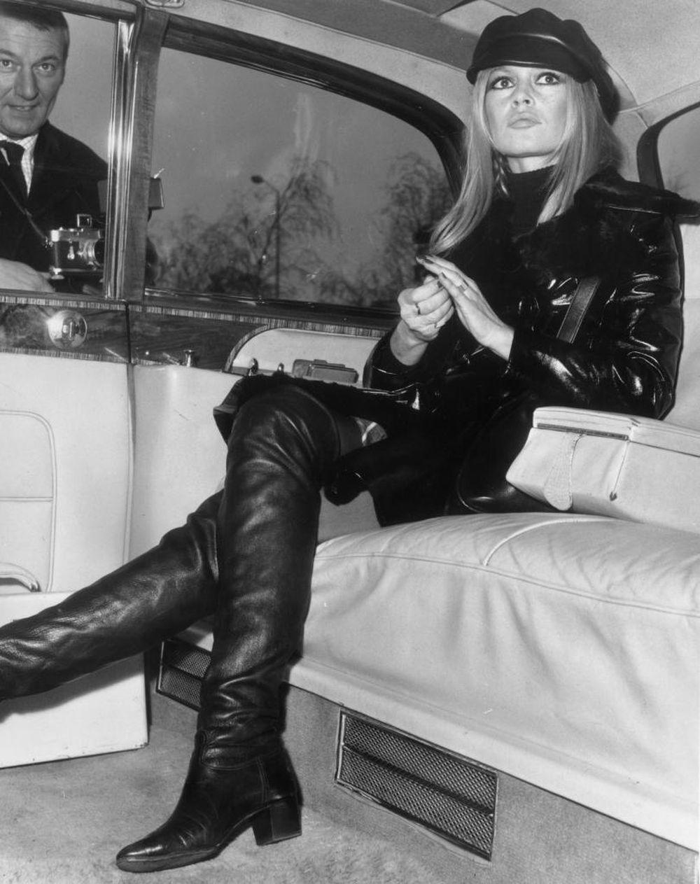 Brigitte Bardot en Londres durante el estreno de su película Shalako