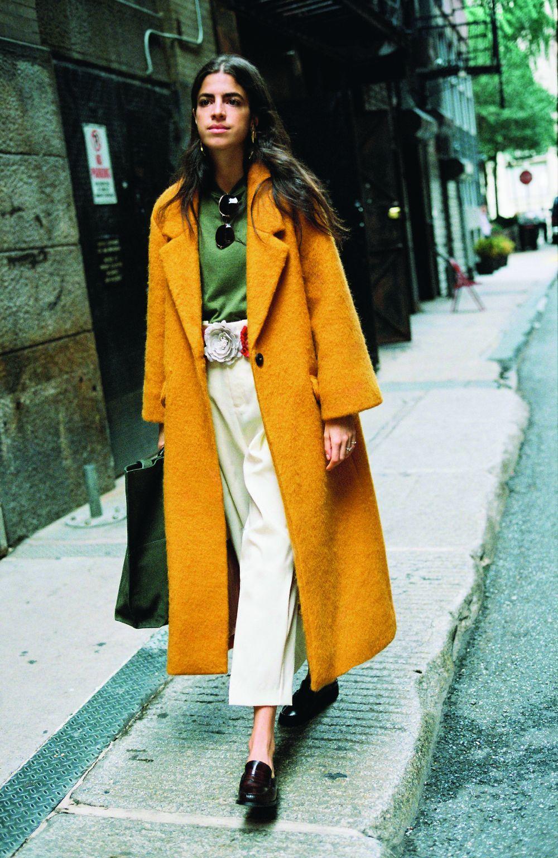 1. Look street style oversize: un abrigo de lana oversize en colores...
