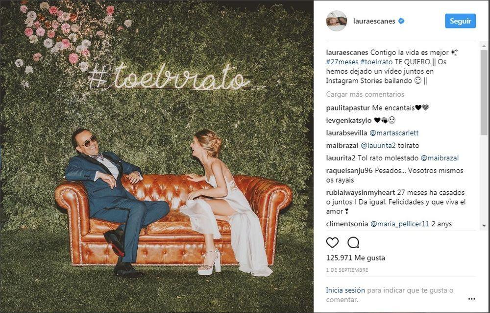 Laura y Risto en su boda.