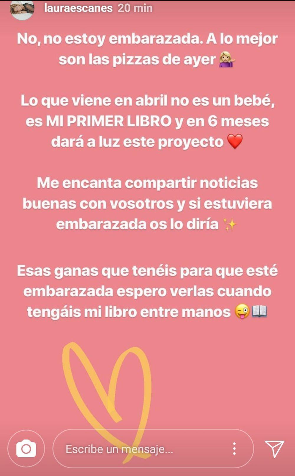 Stories del Instagram de Laura Escanes.