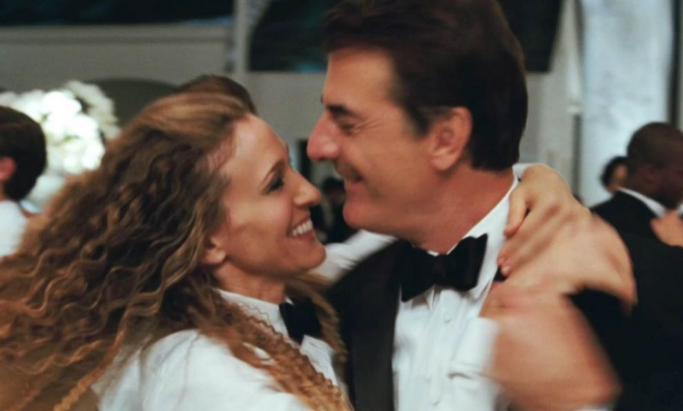 Carrie Bradshaw (Sarah Jessica Parker) y Mr. Big (Chris Noth) en la...