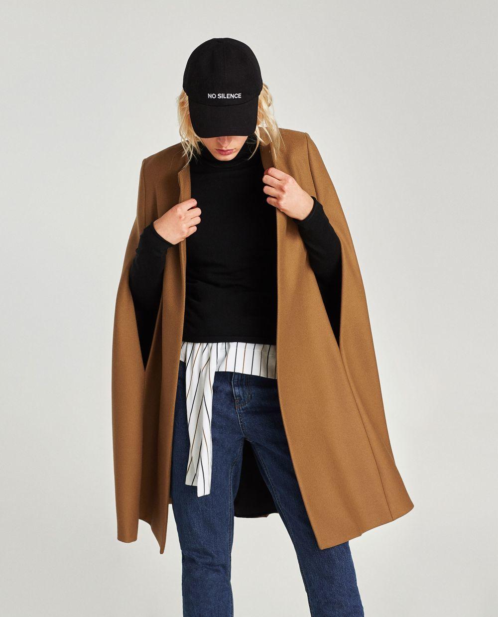 Capa marrón de Zara (79,95 euros)