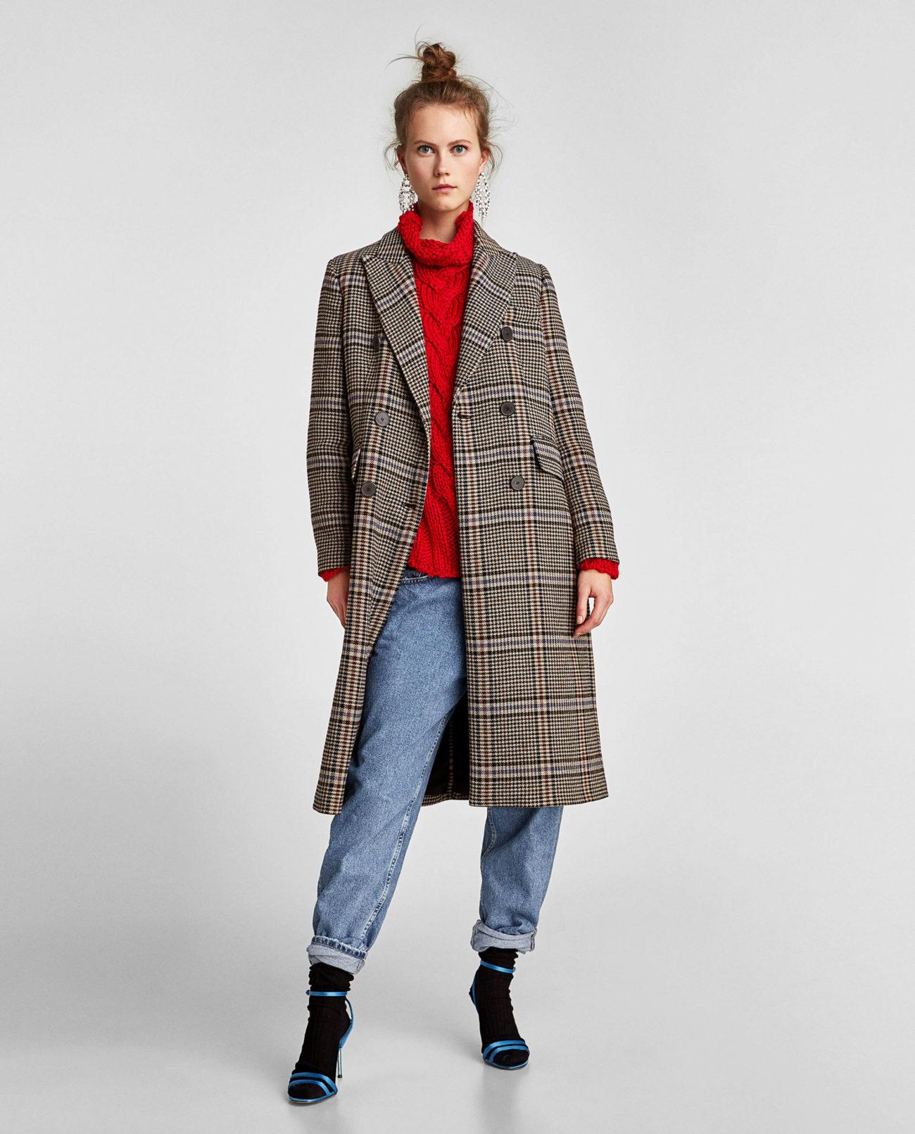 nuevo estilo 26600 3e08c A cuadros | Zara tiene los 15 abrigos de la temporada |...