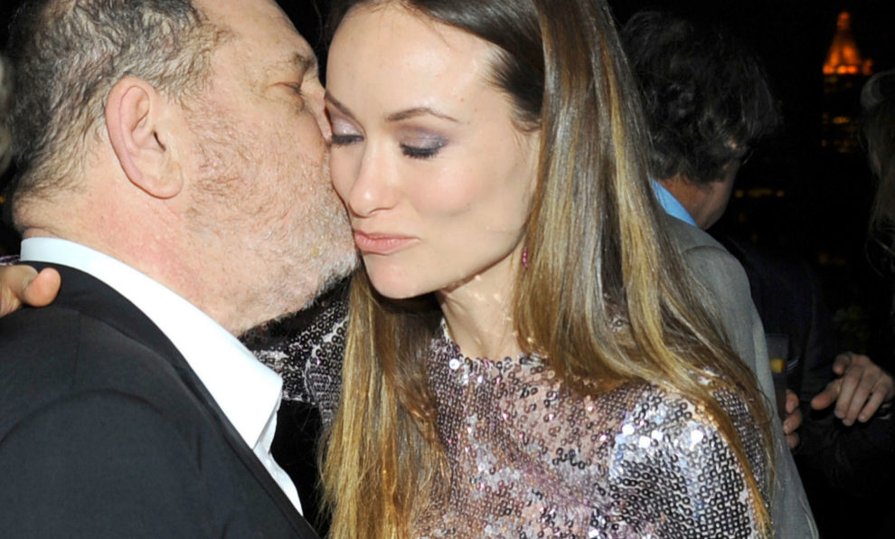 Harvey Weinstein y la actriz Olivia Wilde.