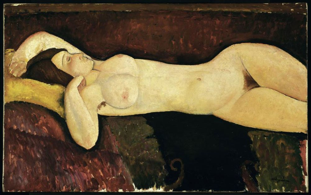 <em>Desnudo acostado</em>, Modigliani.