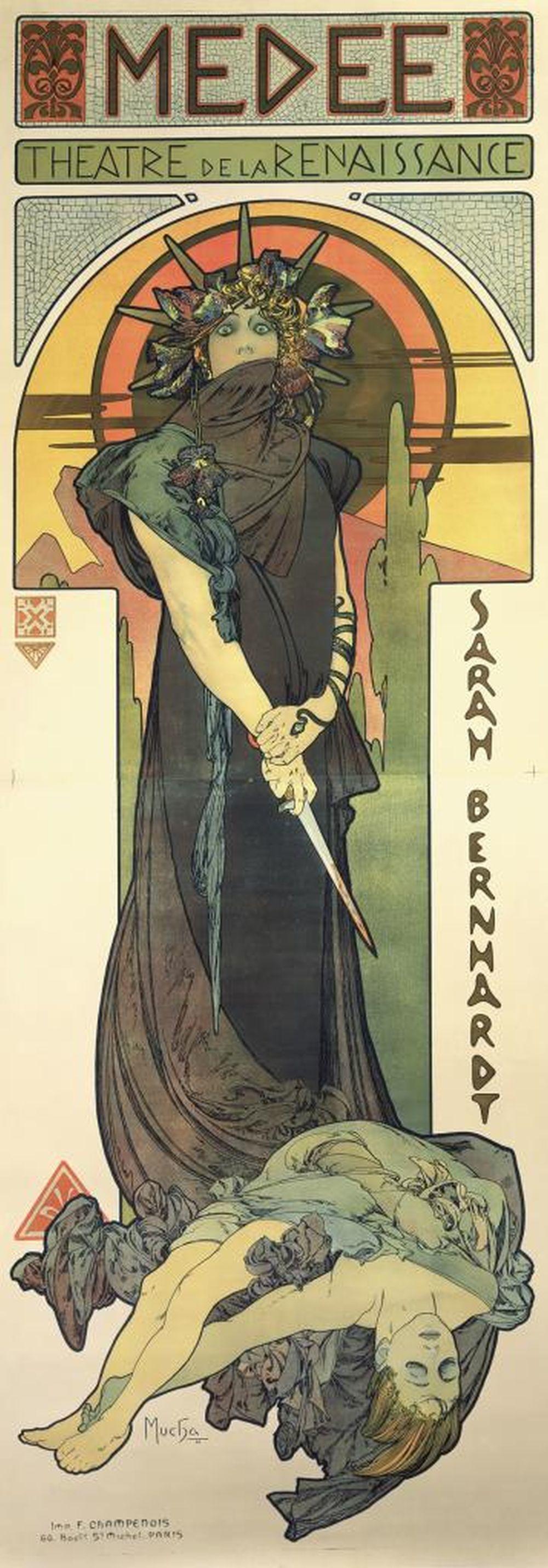 <em>Médée 1898</em>, Alphonse Mucha.