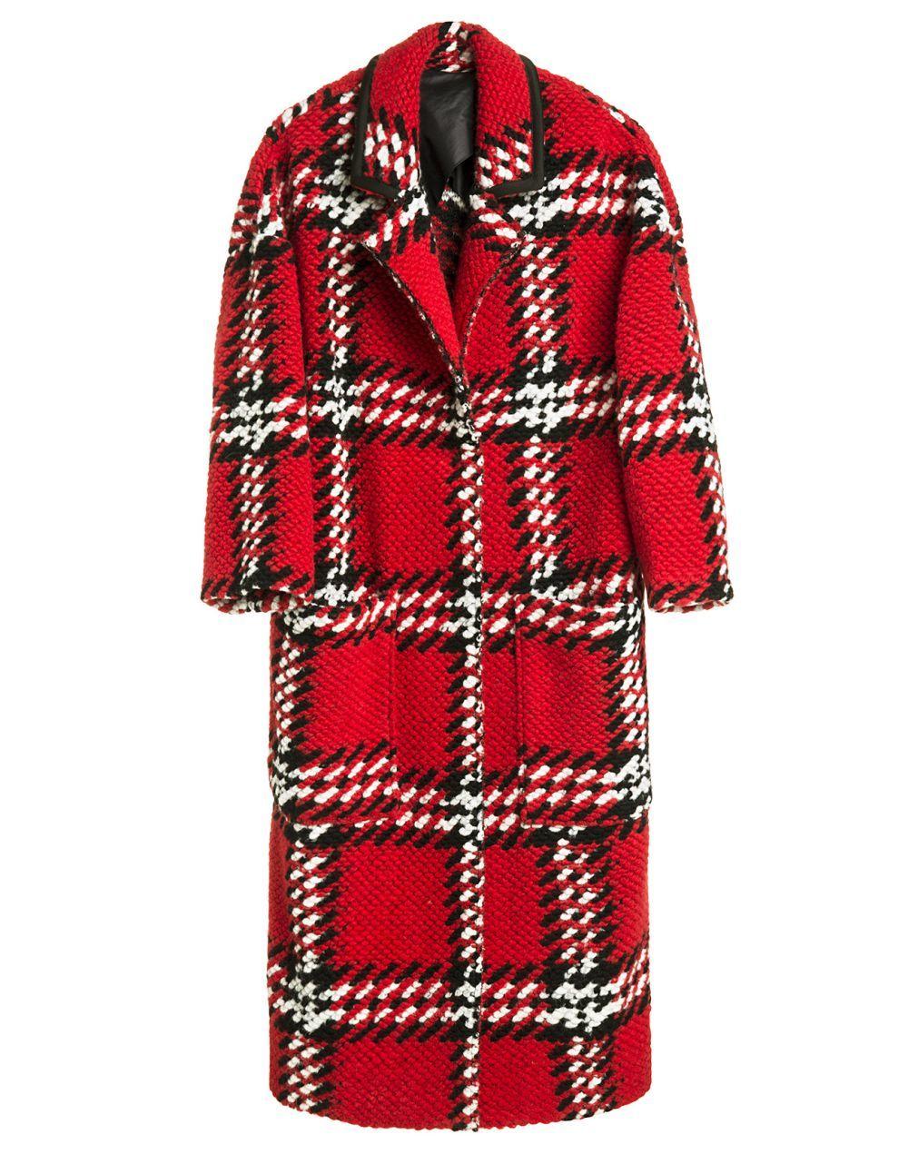 Abrigo de cuadros rojos de Bimba y Lola (325 euros)