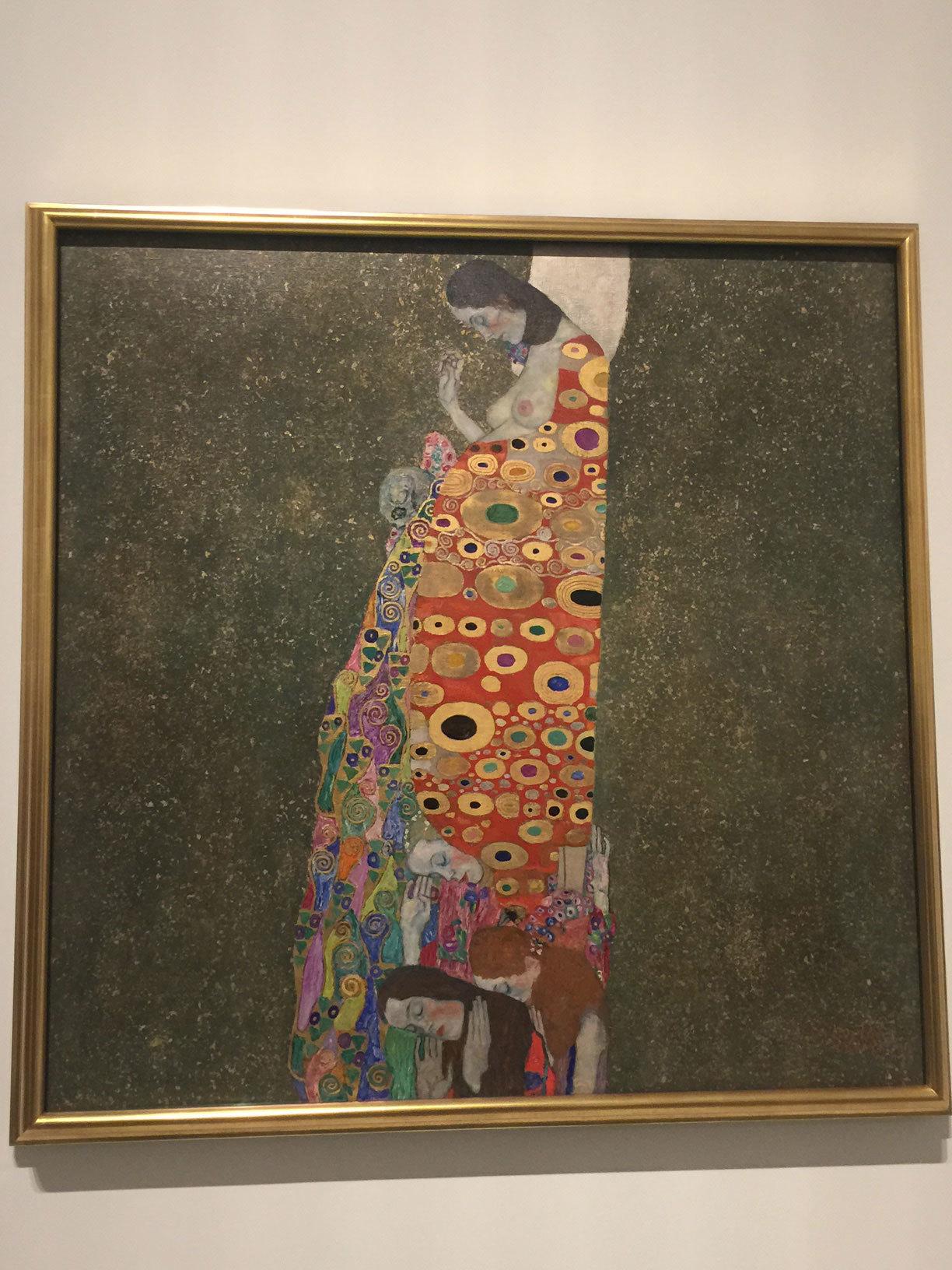 Una de las obras de Klimt.