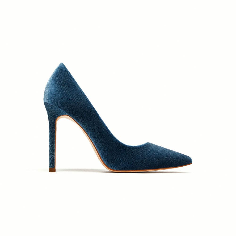 Salón De Los Zapatos Todos Zara 7adfq Terciopelo Que Tiene Azul UpSwpq