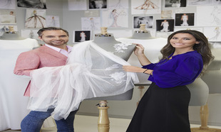 Ana Boyer y Hervé Moreau, director creativo de Pronovias.