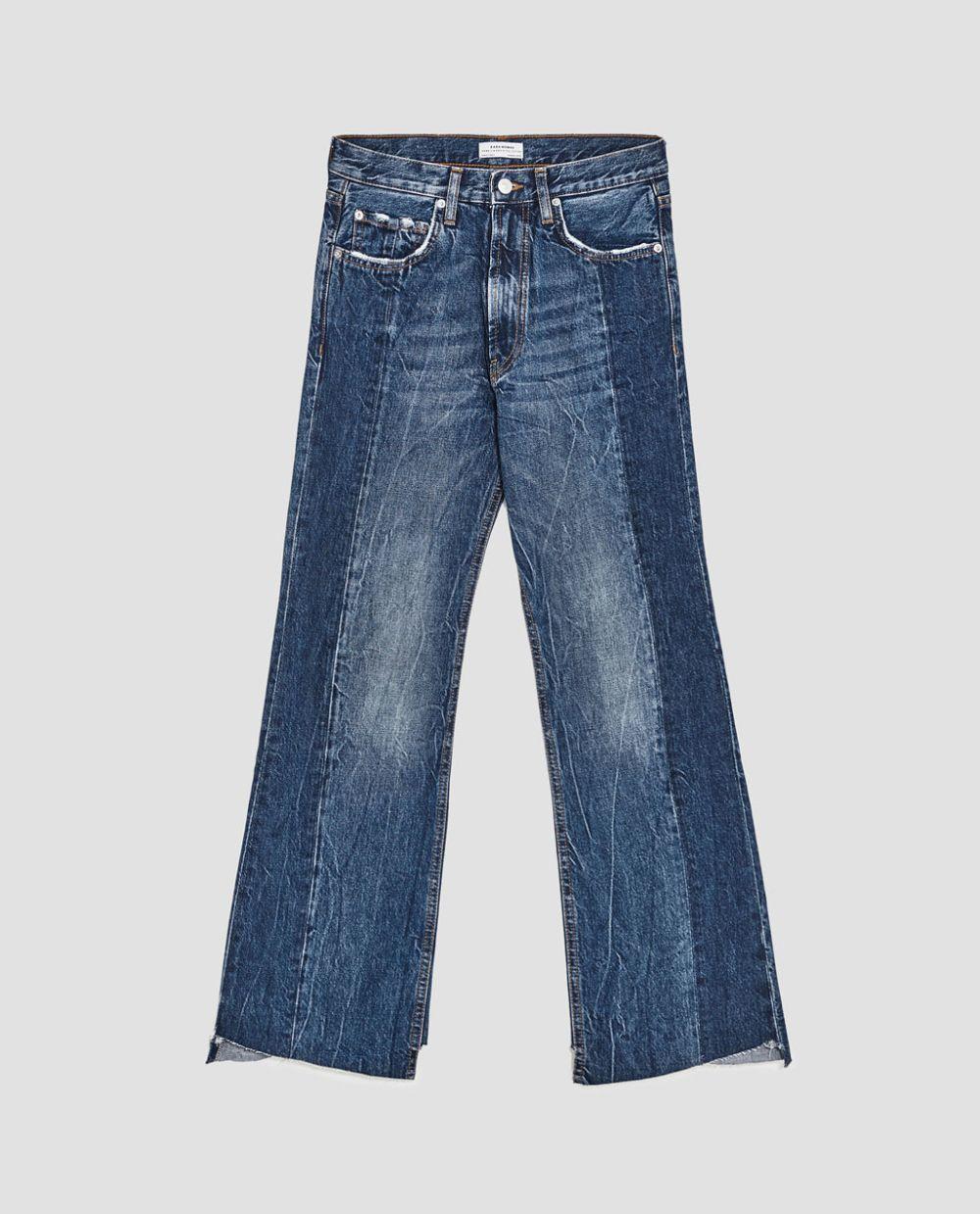Jeans acampanados de Zara (39,95 euros)