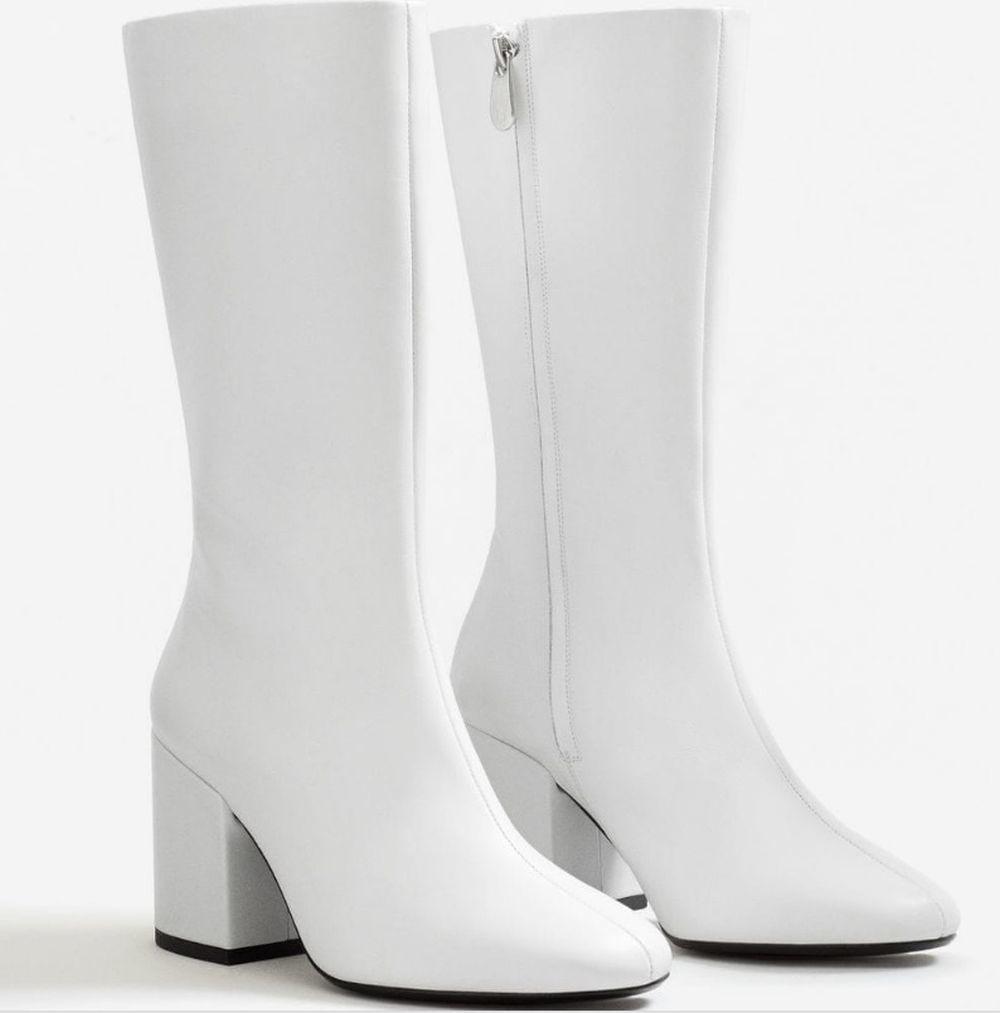 Botas de piel blancas de Mango (89,99 euros)