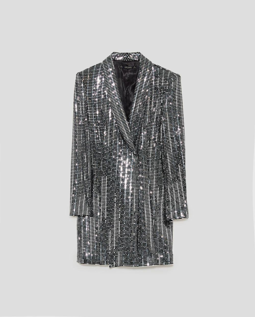 amplia selección a juego en color venta caliente real Compras navideñas | Vestido blazer metalizado, de Zara (59.95...