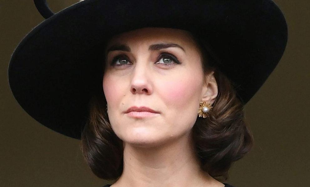 Kate Middleton en el Sunday Remembrance Service en Londres