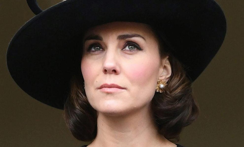 Kate Middleton en el Sunday Remembrance Service en Londres