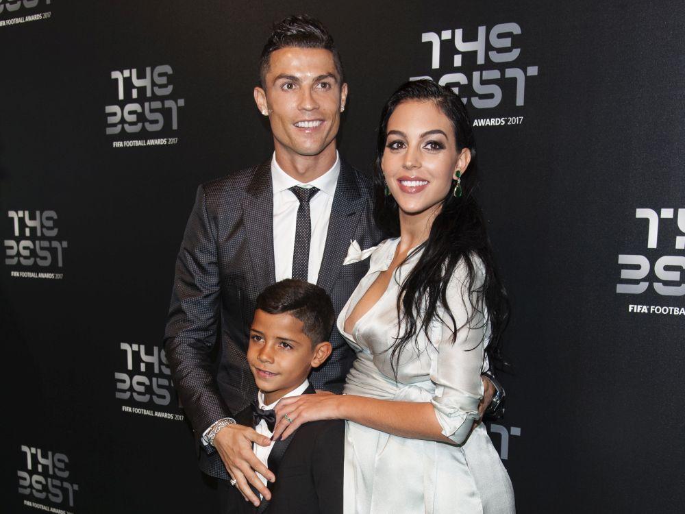 Georgina Rodríguez con Cristiano Ronaldo y su hijo, unos días antes...