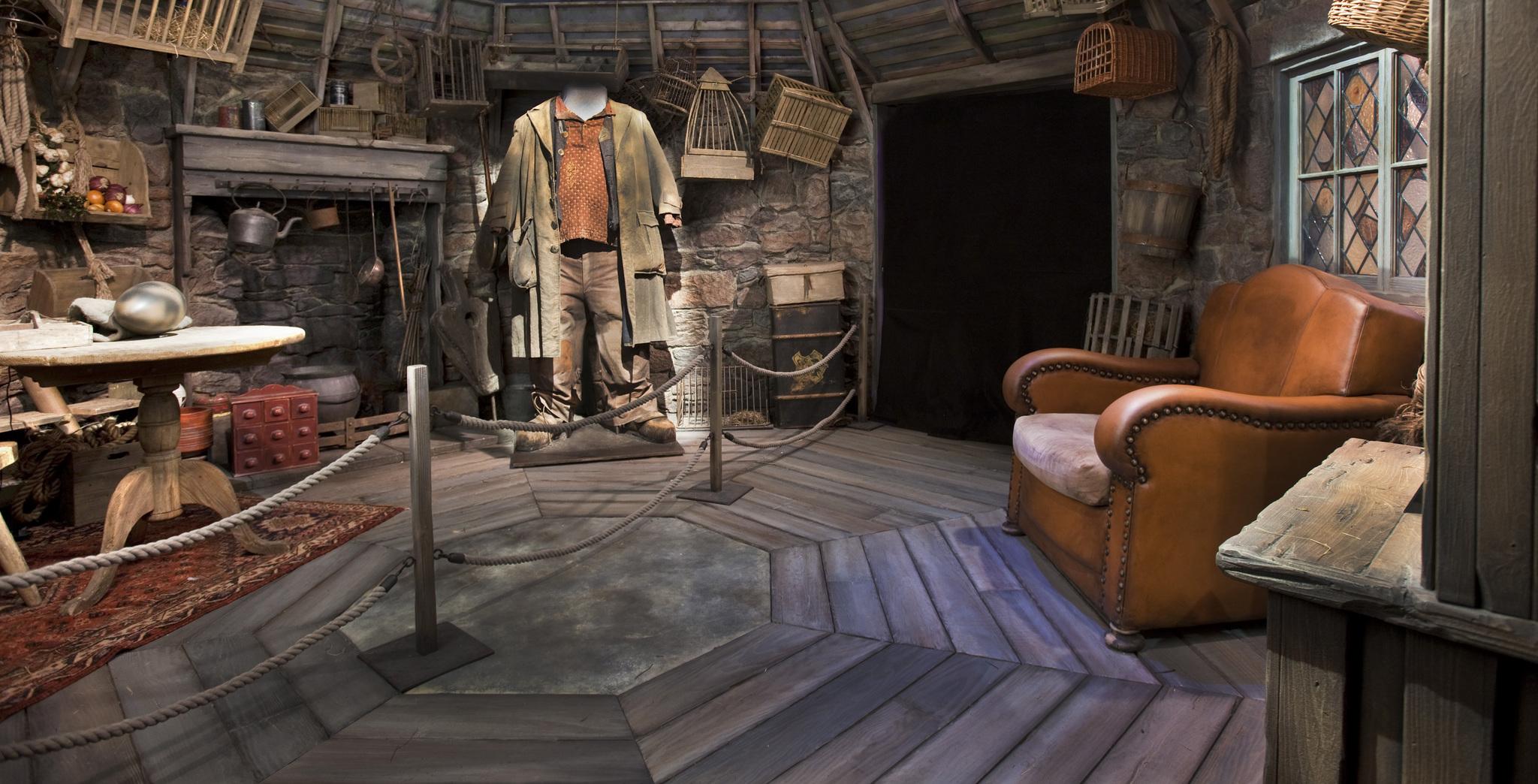 Interior de la cabaña de Rubeus Hagrid.