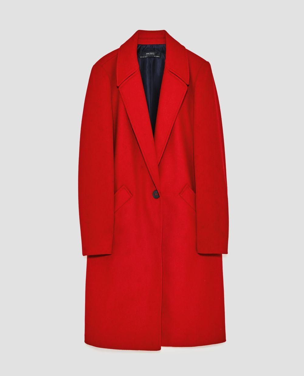 Abrigo de lana de Zara (79,95 euros)