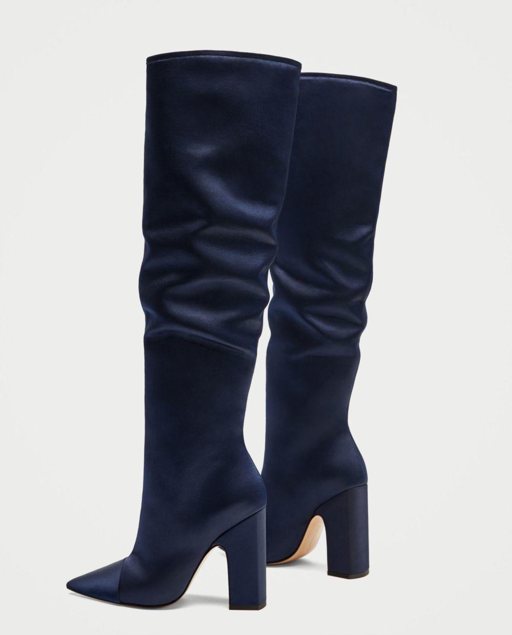 Botas azules de Zara (69,95 euros)