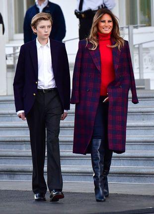 Melania Trump recibe la Navidad