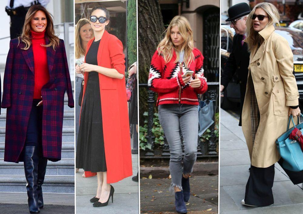 Melania Trump, Emmy Rossum, Sienna Miller y Kate Moss.