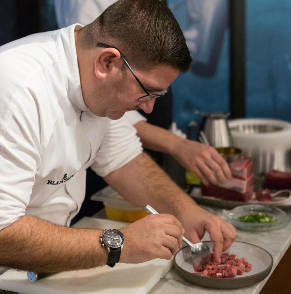 El chef Dani García nos cocina en su restaurante Bibo Madrid.