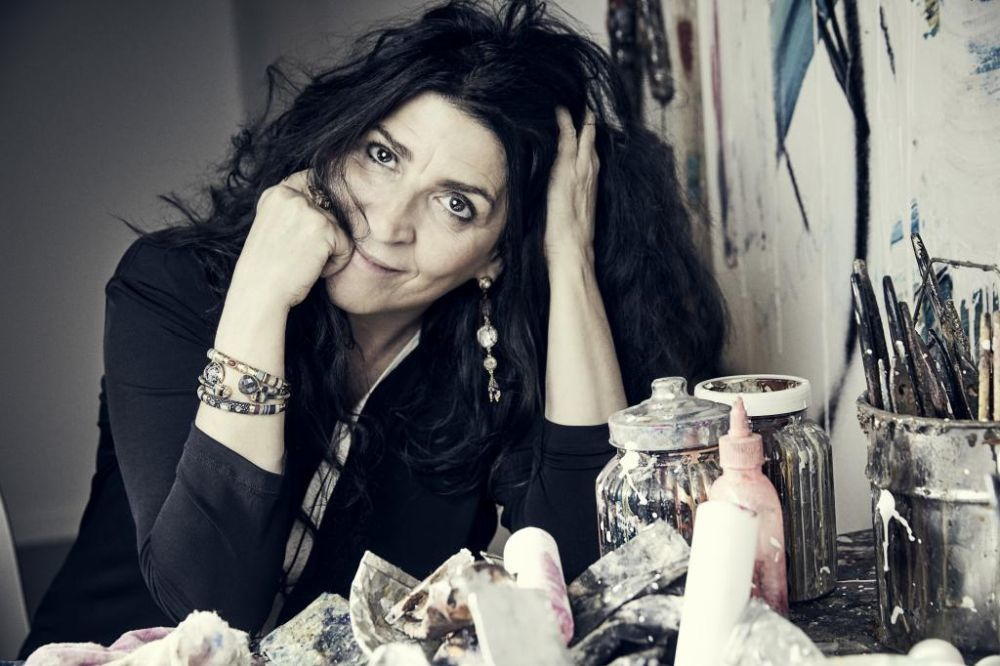 La artista Lita Cabellut en su estudio.