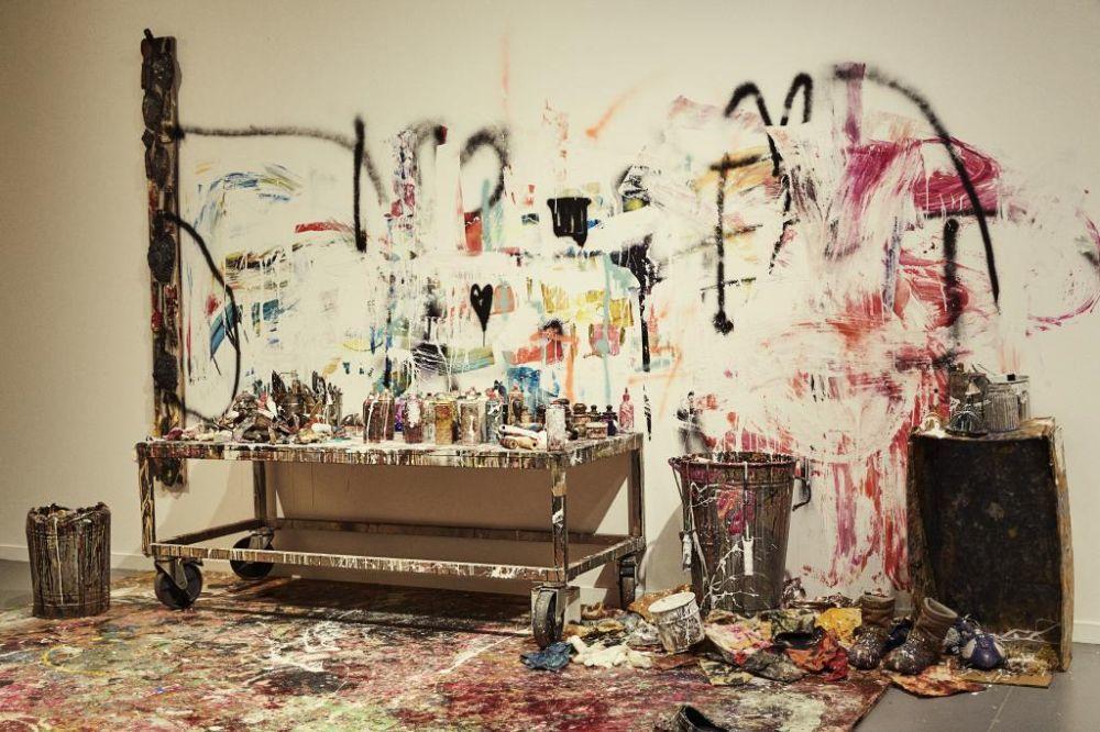 Recreación del estudio de Lita Cabellut en el Museo de Arte...