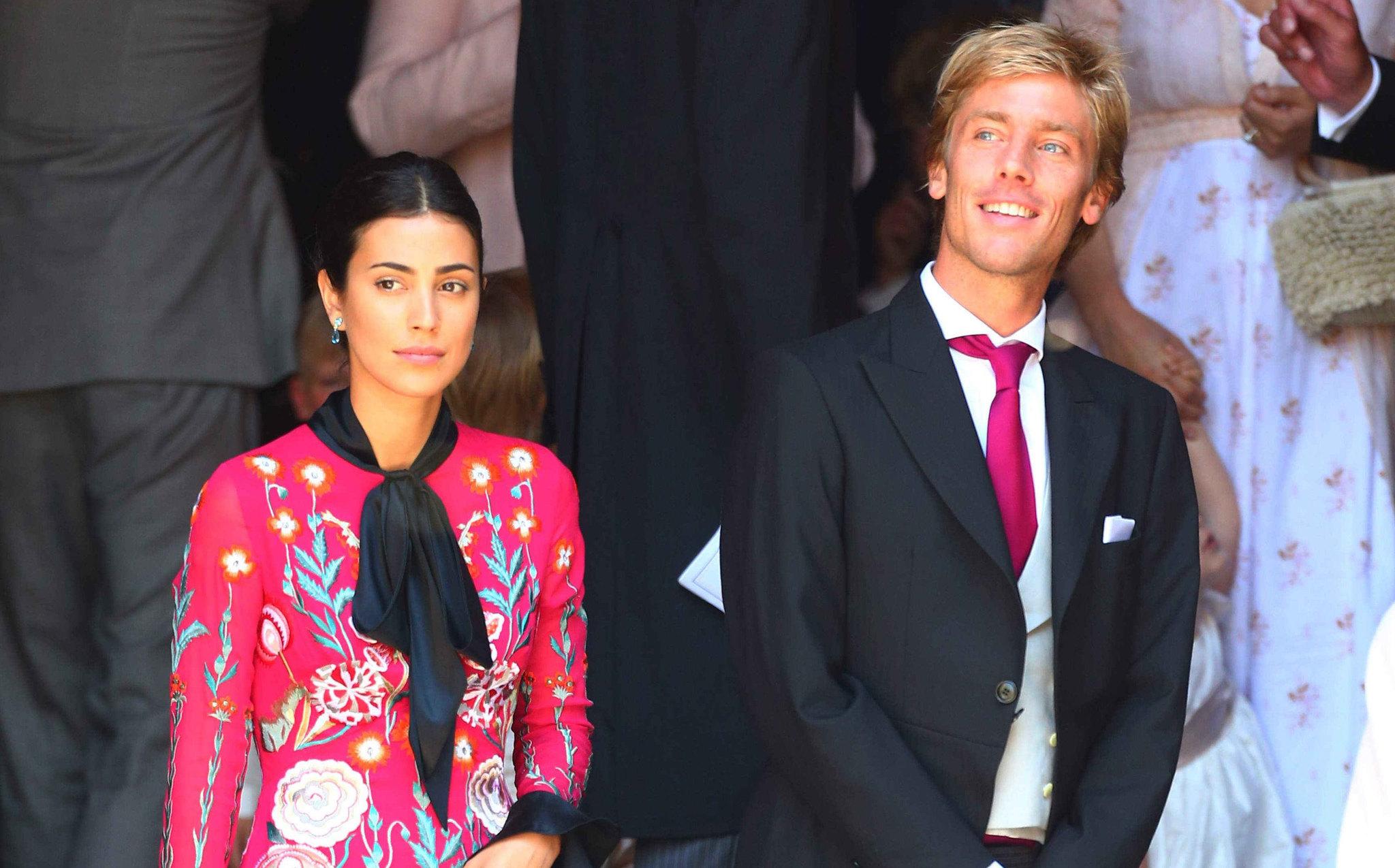 La pareja durante la boda de Ernesto Augusto Jr. y Ekaterina...
