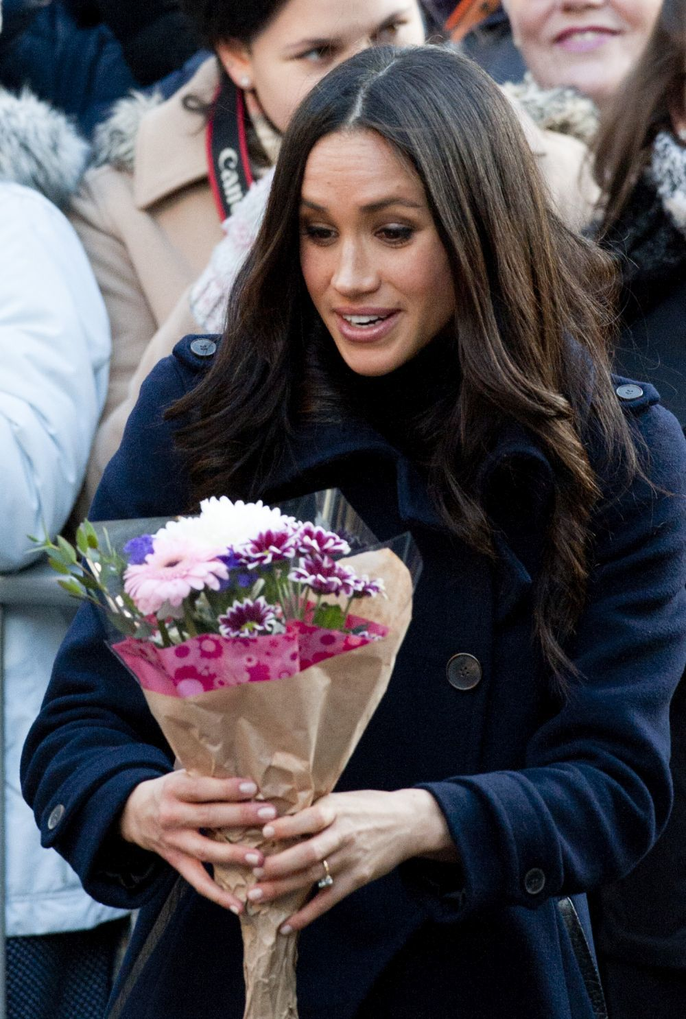 Meghan Markle recibió numerosos ramos de flores