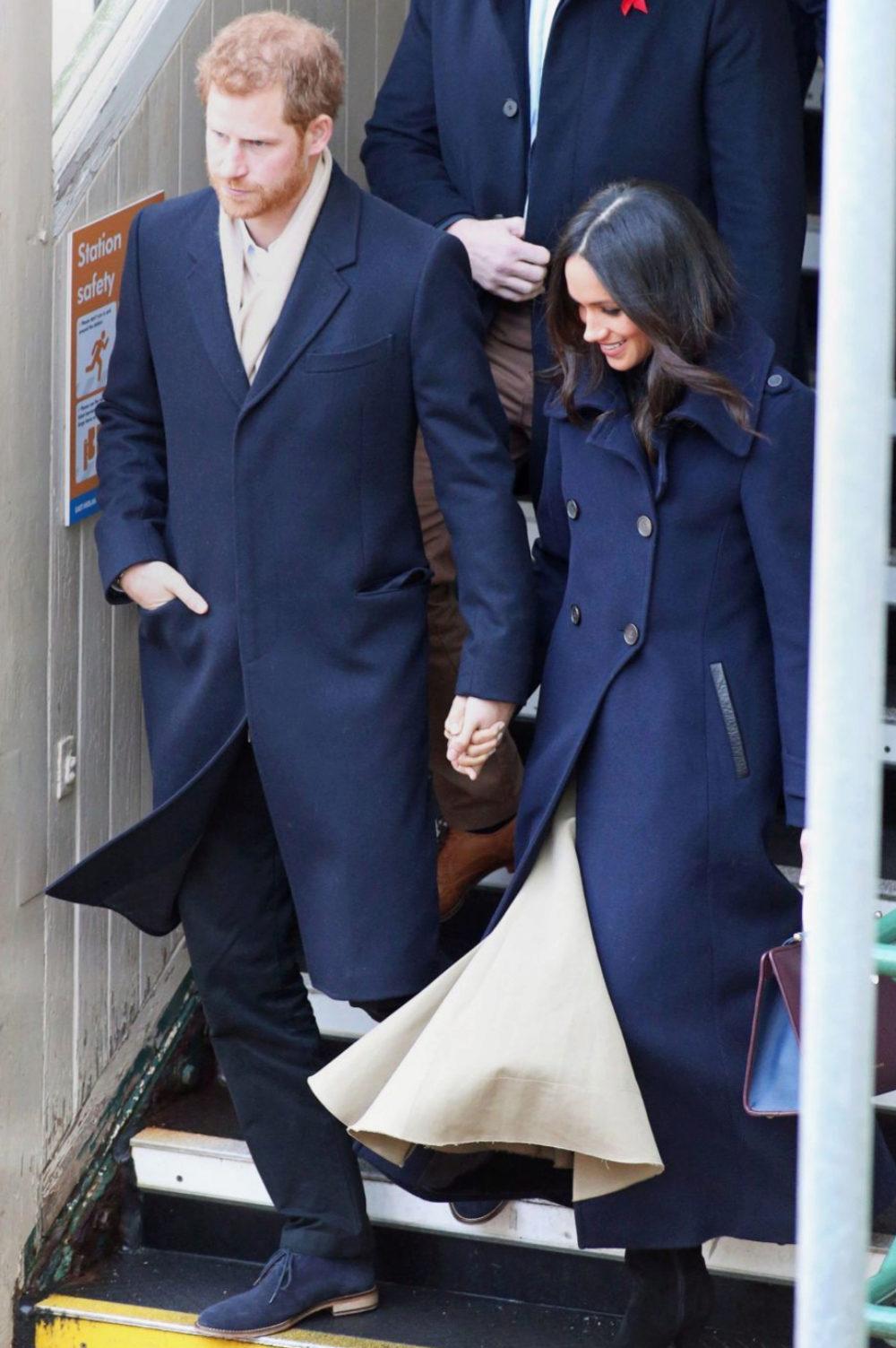 La llegada de Meghan Markle y el príncipe Harry de Inglaterra