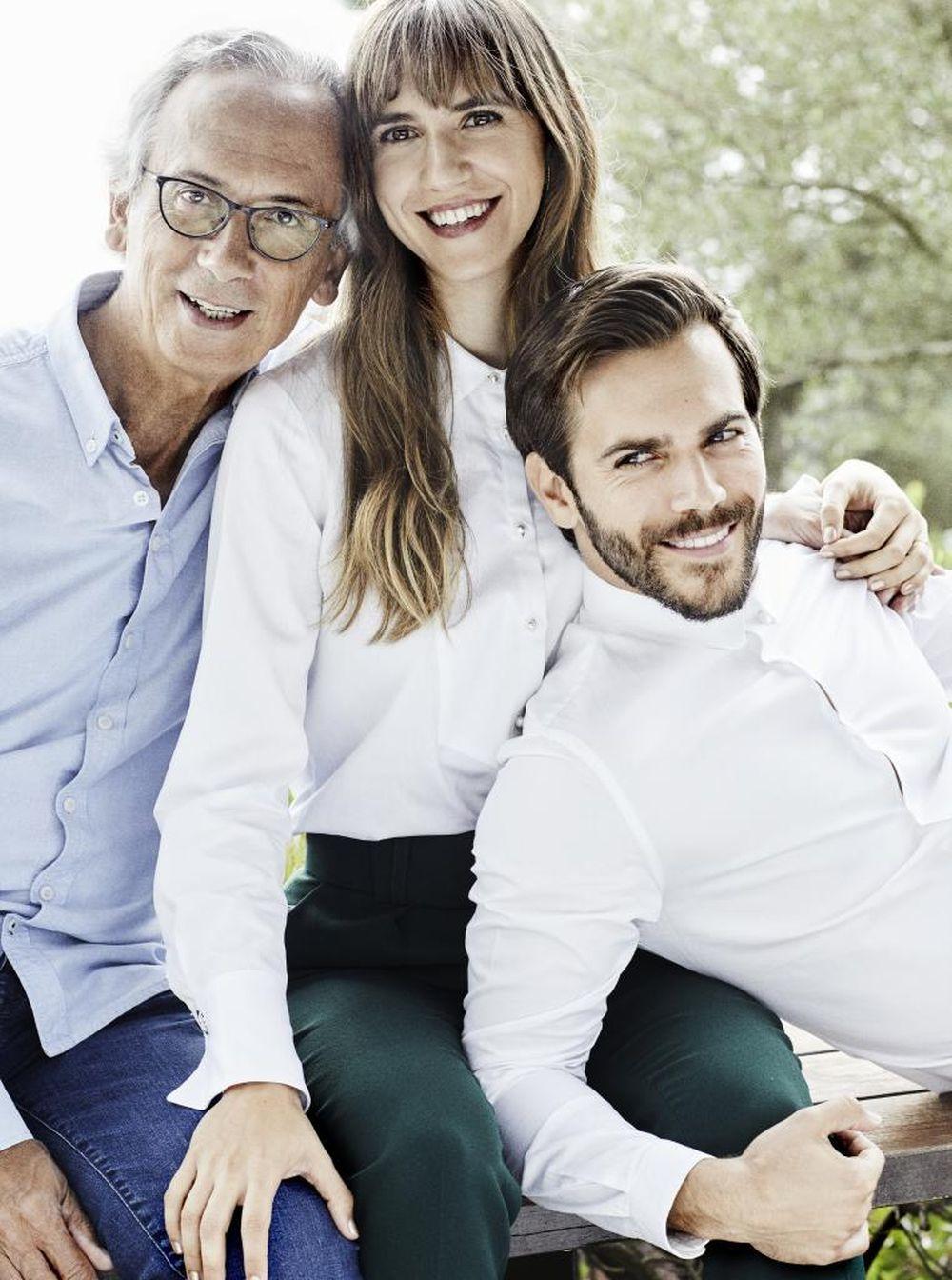 Bonaventura Clotet con sus hijos, Aina y Marc