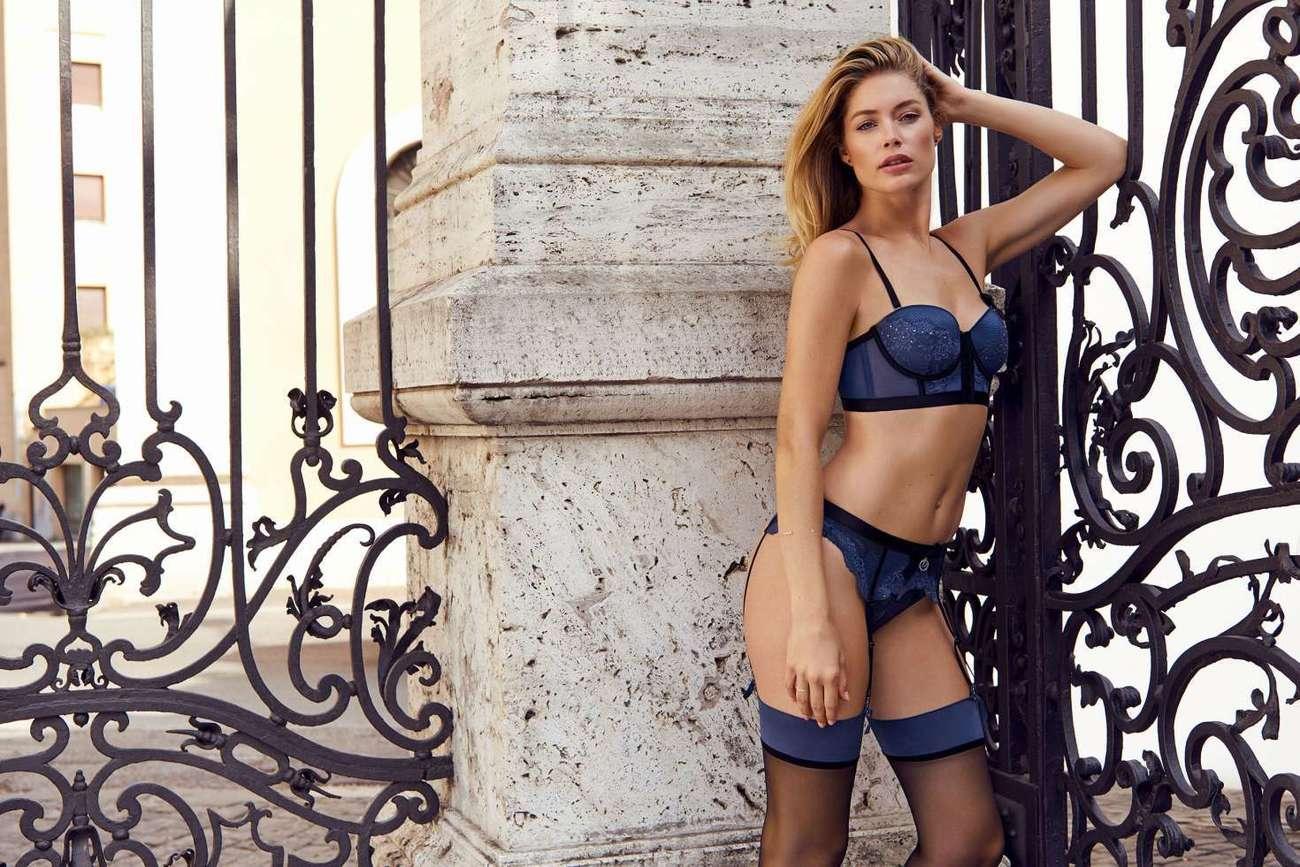 La top model Doutzen Kroes es imagen de esta firma, cuya colección de...