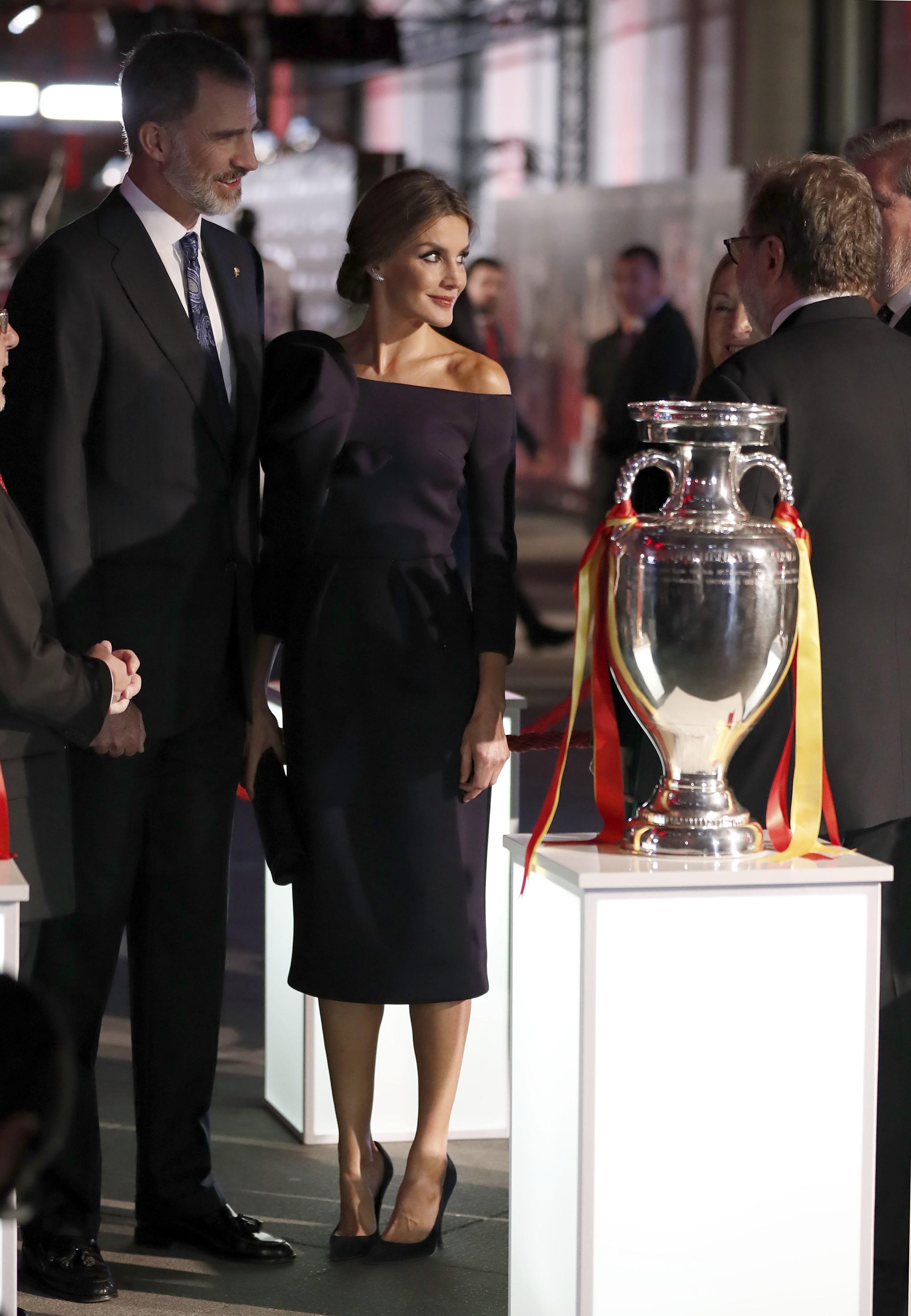 Los Reyes Felipe y Letizia en la entrega de los premios As del...