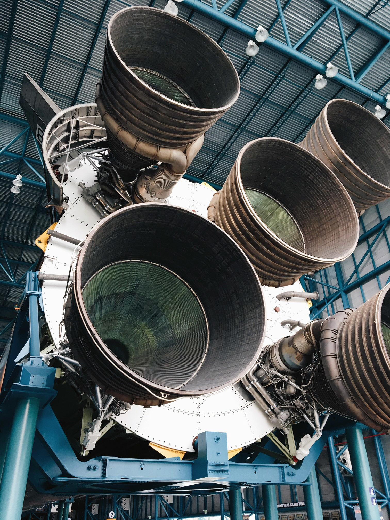 Motores espaciales de Saturno V.