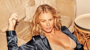 Chloe, una de las imágenes de la campaña de lencería posa en ropa...