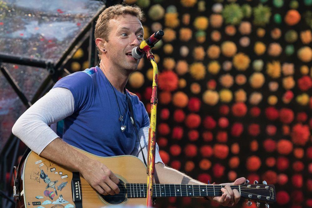 El cantante Chris Martin