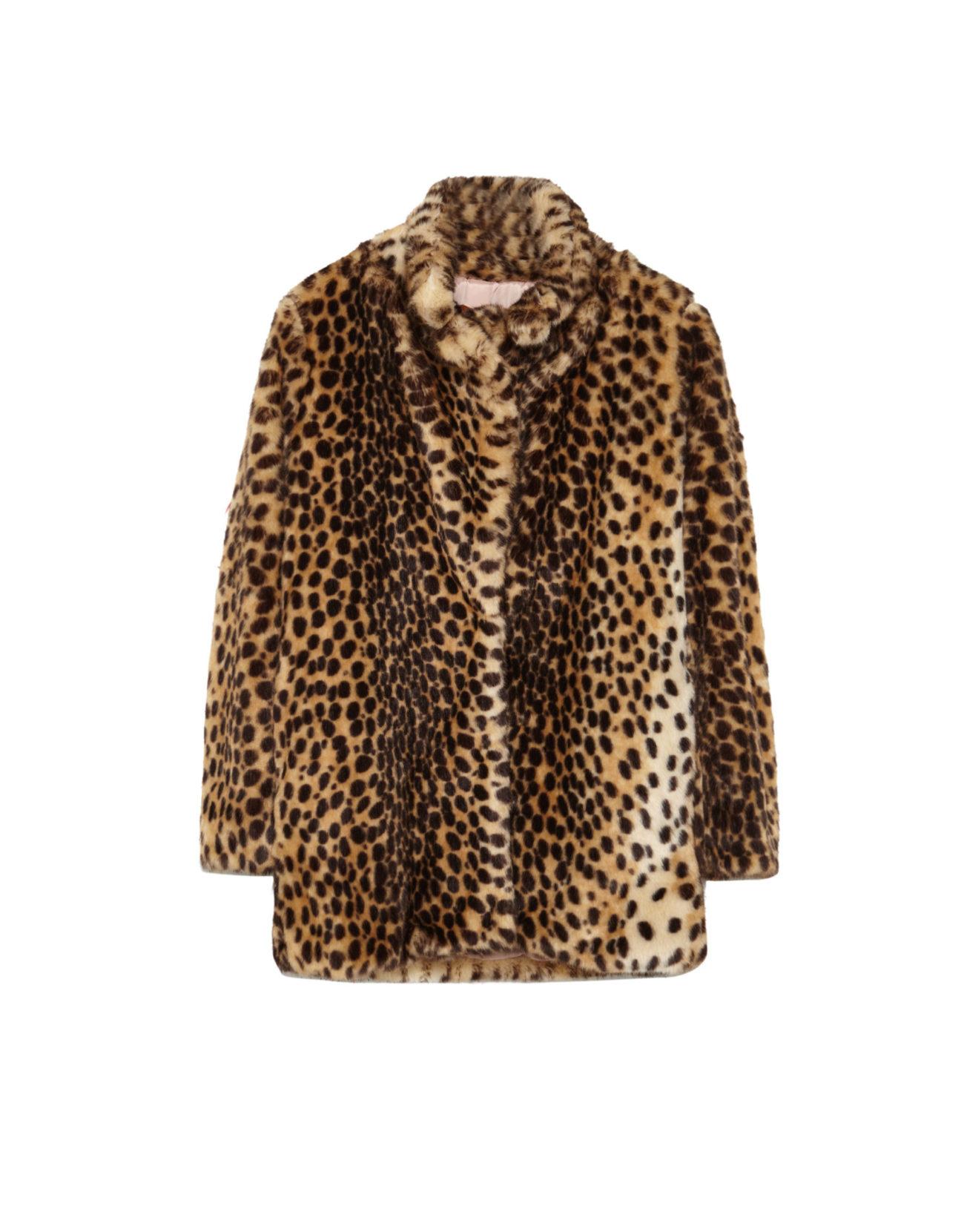 atractivo y duradero patrones de moda venta barata ee. Abrigo de pelo sintético con estampado de leopardo, de...