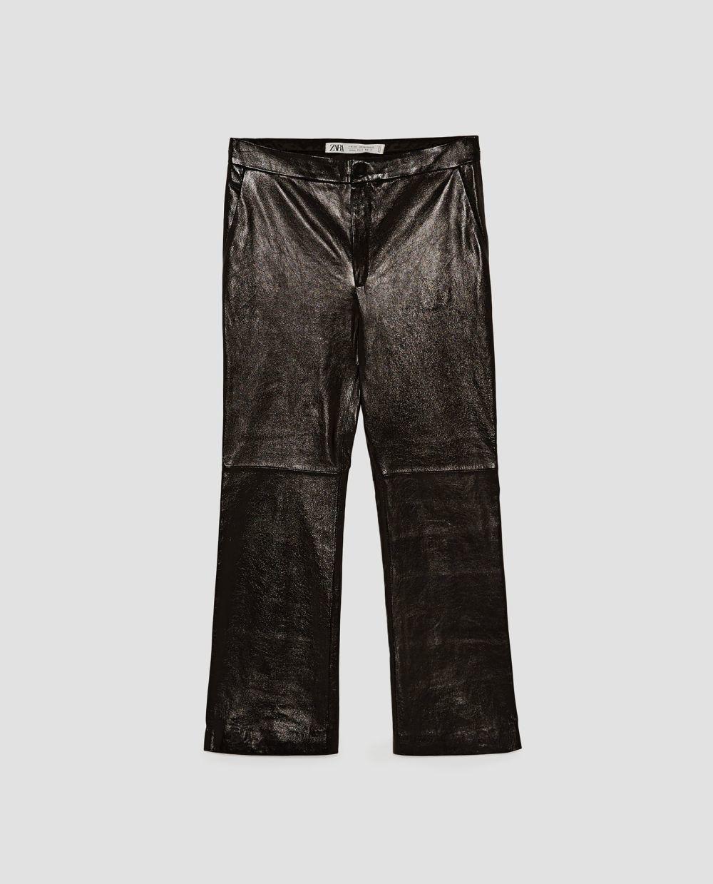 Pantalón de piel de Zara (149 euros)