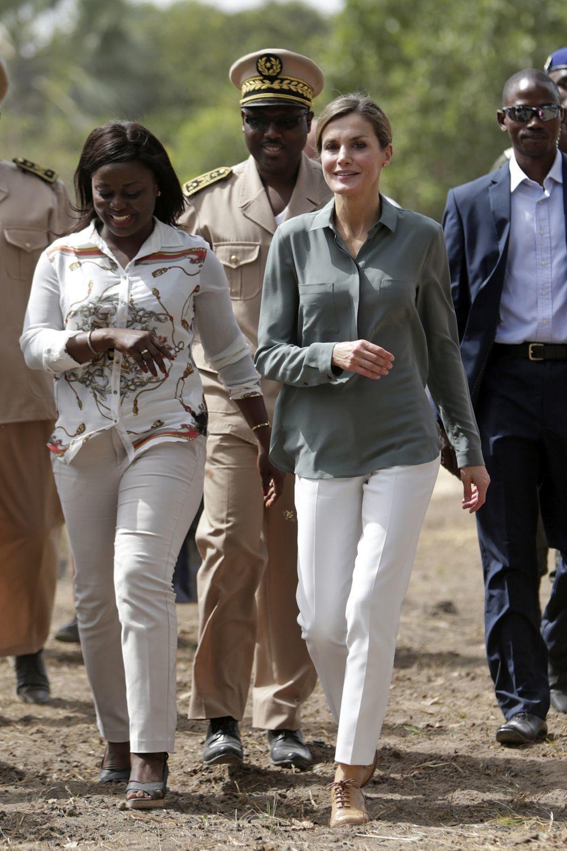 La Reina Letizia en Senegal.
