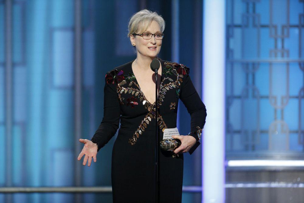 Meryl Streep durante los Globos de Oro 2017